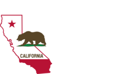 California Outline And Flag Solid