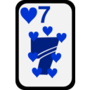 download Seven Of Hearts clipart image with 225 hue color