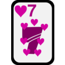 download Seven Of Hearts clipart image with 315 hue color