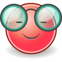 download Tango Face Glasses clipart image with 315 hue color