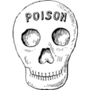 download Poison Skull clipart image with 225 hue color
