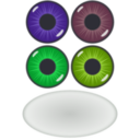 download Eye Components clipart image with 45 hue color