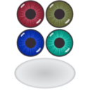 download Eye Components clipart image with 135 hue color