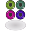 download Eye Components clipart image with 225 hue color