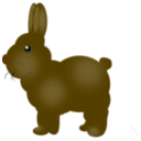 download Chocolate Bunny clipart image with 45 hue color
