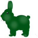 download Chocolate Bunny clipart image with 135 hue color