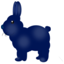 download Chocolate Bunny clipart image with 225 hue color