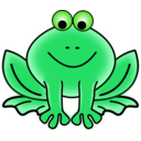 download Frog clipart image with 45 hue color