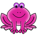 download Frog clipart image with 225 hue color