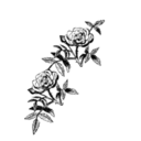 download Rose Decoration clipart image with 315 hue color