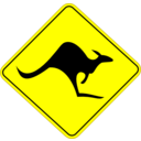 Roo Road Sign