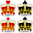 Stylized Crowns For Card Faces
