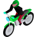 download Cm Isometric Biker clipart image with 135 hue color