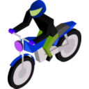 download Cm Isometric Biker clipart image with 225 hue color