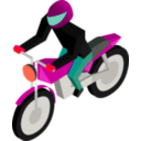 download Cm Isometric Biker clipart image with 315 hue color