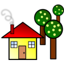House With Trees
