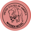 download Wooden Nickel clipart image with 315 hue color