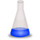 download Conical Flask clipart image with 180 hue color