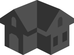 Placeholder Isometric Building Icon Colored Dark Alternative 2