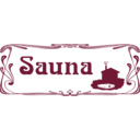 download Sauna Sign clipart image with 135 hue color
