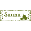 download Sauna Sign clipart image with 225 hue color