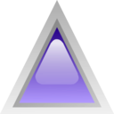 download Led Triangular Purple clipart image with 315 hue color