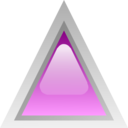 Led Triangular Purple