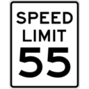 download Speed Limit 55 clipart image with 225 hue color