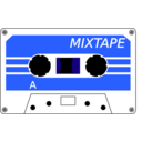 download Cassette Stylised clipart image with 225 hue color