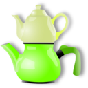 download Shiny Teapot clipart image with 45 hue color