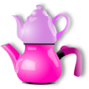download Shiny Teapot clipart image with 270 hue color