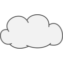 download Cumulus Cloud clipart image with 315 hue color