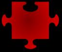 Red Jigsaw Piece 06