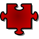 Red Jigsaw Piece 06