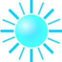 download Sun clipart image with 135 hue color