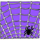 download Spider On A Spider Web clipart image with 225 hue color