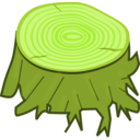 download Tree Stump clipart image with 45 hue color