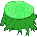 download Tree Stump clipart image with 90 hue color