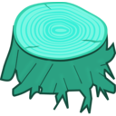 download Tree Stump clipart image with 135 hue color
