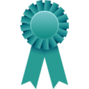 download Award Ribbon clipart image with 315 hue color