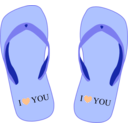 download Thong Light Blue With I Love You clipart image with 45 hue color