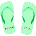 download Thong Light Blue With I Love You clipart image with 315 hue color