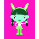 download Bunny Girl clipart image with 135 hue color