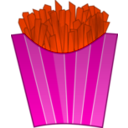 download French Fries clipart image with 315 hue color