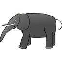 download Grey Elephant clipart image with 45 hue color