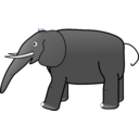 download Grey Elephant clipart image with 225 hue color
