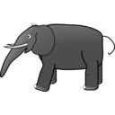 download Grey Elephant clipart image with 315 hue color