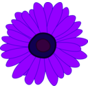 download Sunflower clipart image with 225 hue color
