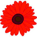 download Sunflower clipart image with 315 hue color