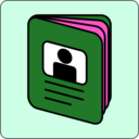 download Passport Icon clipart image with 270 hue color